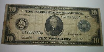 1914  $10 Federal Reserve Note