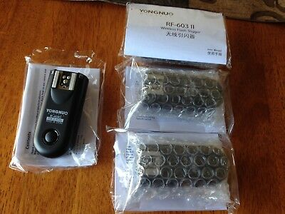 Yongnuo RF-603 II wireless flash trigger lot of 4 all New 2.4 GHz