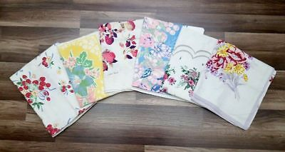 #75 Lot Of 6  Vtg Print Tablecloths  1950s Craft Cutter Floral