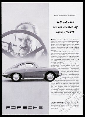 1963 Porsche 356 coupe Ken Purdy photo Great Cars Not Created By Committees ad