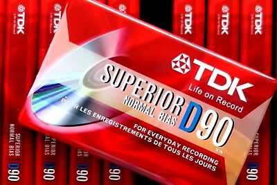 Tdk D 90 Superior Normal Position Type I Blank Audio Cassette - 2003