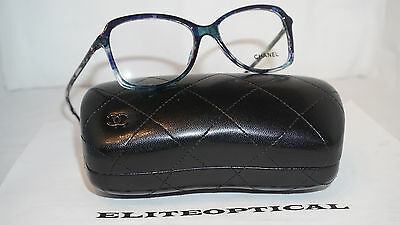 CHANEL RX EYEGLASSES New Authentic Ocean Blue 3336 C.1490 54 16 140 ... a84259c8509