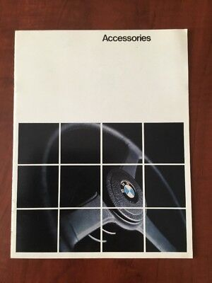 1979 1980 BMW Accessories Sales Brochure 320i 528i 733i Gifts Touring Sport