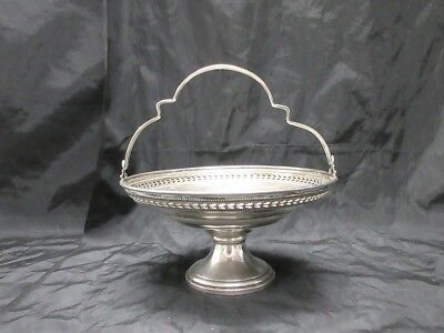 "Elgin NY Weighted Sterling Silver Compote Dish 3"" Tall 6"" Diameter W/ Handle"
