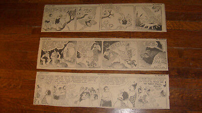 ALLEY OOP, 9 DAILIES FROM OCTOBER 1934, daily comics, lot 5
