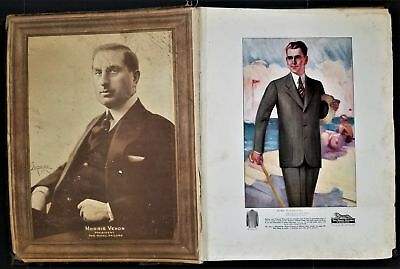 "1927 antique ROYAL TAILORS vehon MENS FASHION CATALOG w FABRIC SAMPLES 16""x21"""