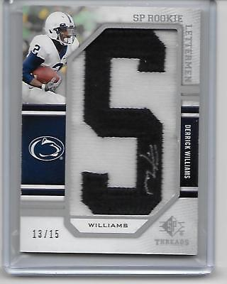 2009 SP Threads Derrick Williams Auto Letter Patch ES(13/15) Card PENN STATE