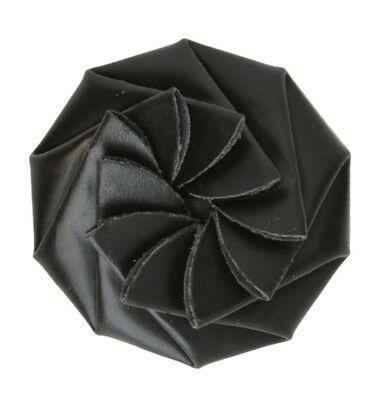 Genuine Black Leather Flower Coin Change Purse - Style mw92808RO