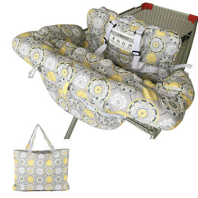 Portable Twin Baby Shopping Cart Cover Trolley Bag Cushion Pad Chair Safety Seat