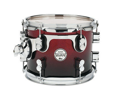 """PDP by DW 8 x 7"""" Concept Maple Tom Tom Red to Black Fade"""