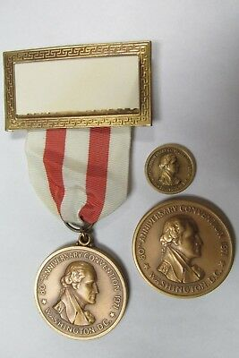 1971 Ana G Washington 2 Sizes 80Th Annual Convention Medals