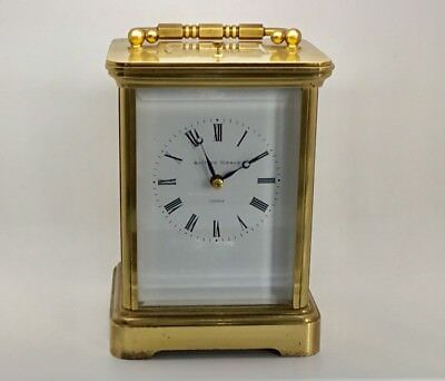 """Brass Cased """"Matthew Norman"""" Repeating Carriage Clock."""