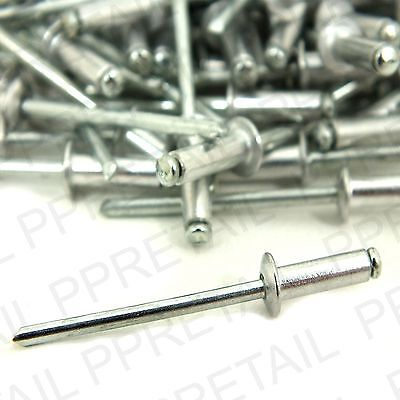 100 x 3.2mm Wide X 10mm Long POP RIVETS  Metal Repair Bind Rivot Gun LARGE PACK