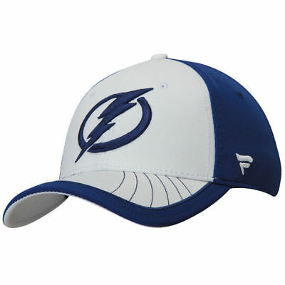 9d547405498 Fanatics Branded Tampa Bay Lightning White Blue Transition Flex Hat