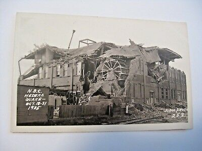 Antique Helena Montana National Biscuit Factory Earthquake Real Photo Postcard