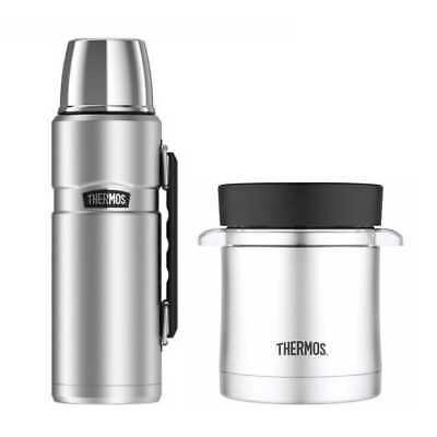 Thermos King S/S Insulated 40oz Beverage Bottle and 12oz Food Jar