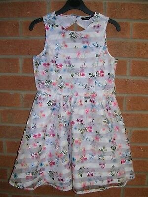 GEORGE Girls Floral Summer Party Dress Age 7-8 128cm