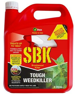 Vitax SBK Brushwood Killer Ready to Use 4 Litre Selective Weedkiller Treat 100m²