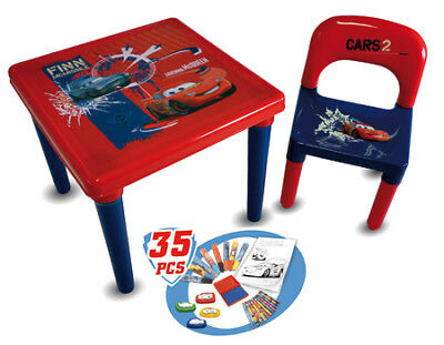NEW! Disney Cars Activity Table With 35 Piece Accessory Pack CDIC016