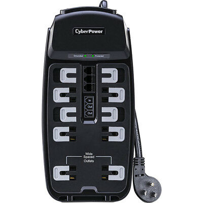 CyberPower 2850J 10-Outlet Surge Protector with 8' Cord - CSP1008T