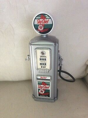 Pre-Owned Gearbox Texaco Sky Chief 1950 Gas Pump Replica Coin Bank