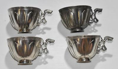 Antique China Straits Chinese Solid Silver Cups Peranakan Nyonya Ware Marked