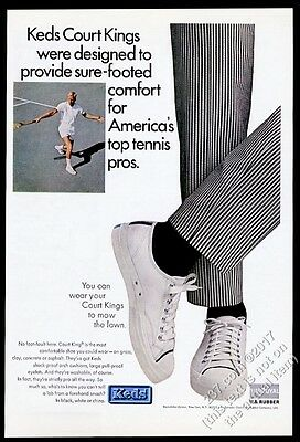 1965 Keds Court Kings tennis shows photo vintage print ad