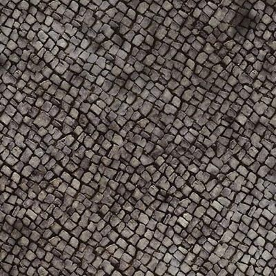 @   5 SHEETS EMBOSSED BUMPY COBBLESTONE PAPER TERRAIN  walkway 1/6  CODE s1A