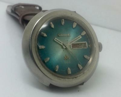 Vintage Excellent 42Mm Size Nivada Automatic 101 Day-Date Swiss Made Wrist Watch
