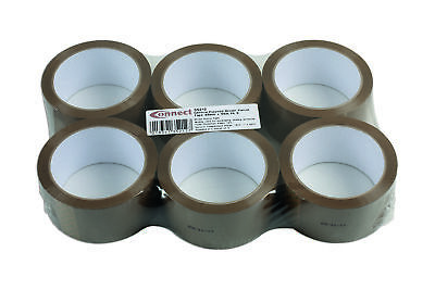 Connect 35212 General Purpose Brown Parcel Selo Tape 48mm x 66m 6pc Packing