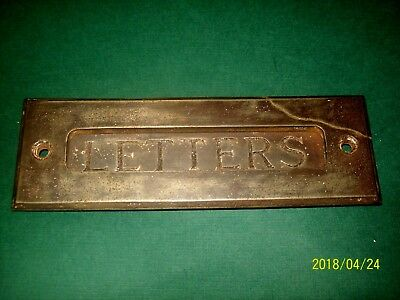 Antique Brass Letter Slot / Plate For Yor Door. Was In Use When Removed !