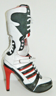 cosplay Harley Quinn suicide squad boot made genuine leather woman size 6.5 US