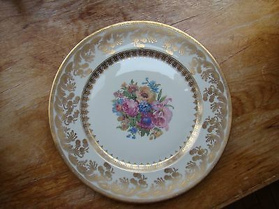 "Antique H & C HEINRICH & Co Selb Bavaria GOLD Edge 11"" PLATES Set 12 Formal NICE"