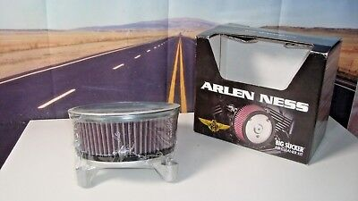 Arlen Ness - 18445 - Big Sucker Stage I Air Filter Kit for OEM Cover, Natural X4