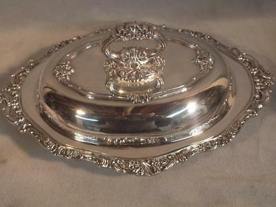 Baroque By Wallace Heavy Silver Plated Serving Bowl / Vegetable Dishes