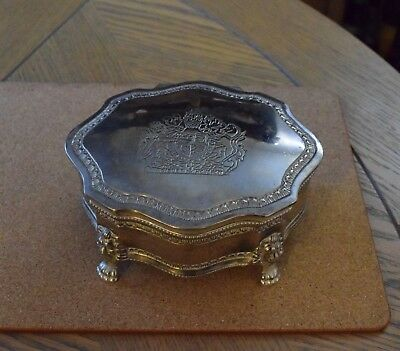 Silver Plate Jewellery Trinket Box