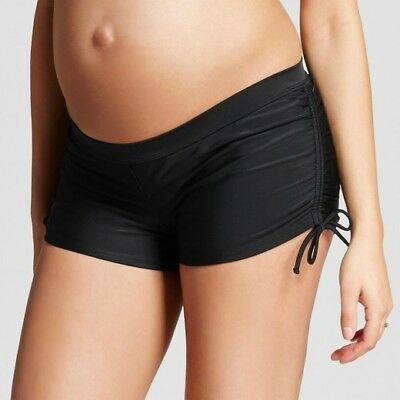 Maternity SWIMSUIT BOTTOM Black Shorts w/ Drawstring Sides XXL NWOT Liz Lange