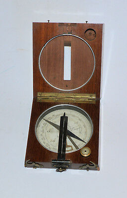 French Surveying Compass / Clinometer. 'Boussole - alidade'.