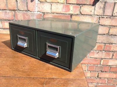 Vintage Kingsbury Indexing Filing Drawers Desk Top Address Filing Industrial