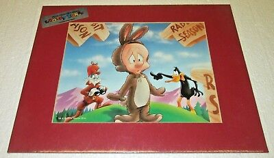 "LOONEY TUNES BUGS DAFFY ELMER LITHOGRAPHIC PRINT WB 1995 LITHOGRAPH NEW 11""x14"""