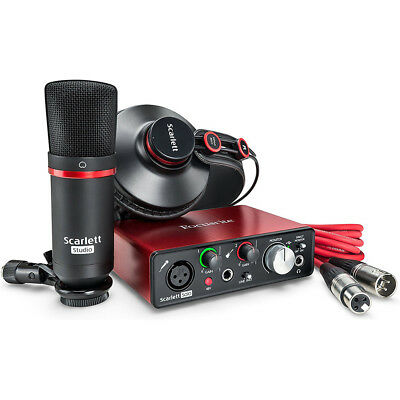 Focusrite Scarlett Solo Studio USB Audio Interface/Recording Set 2nd Generation