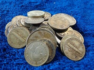 Lot of Assorted Silver Coins India, Canada, Schillings++