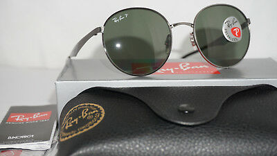 0100cc40e0 RAY BAN Sunglasses Round Gunmetal Green G-15 Polarized RB3537 004 9A 51 145