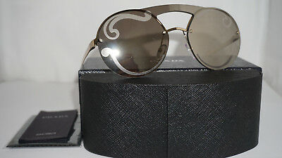 3610b4f0480c PRADA New Sunglasses Authentic Pale Gold Gold Mirror PR 65TS ZVN0DW 36 140