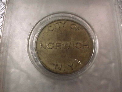 Vintage City of Norwich, NY Parking Meter Token