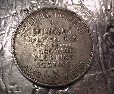 Antique Norwich, NY Reynolds, Thompson, & Robinson Hardware Token