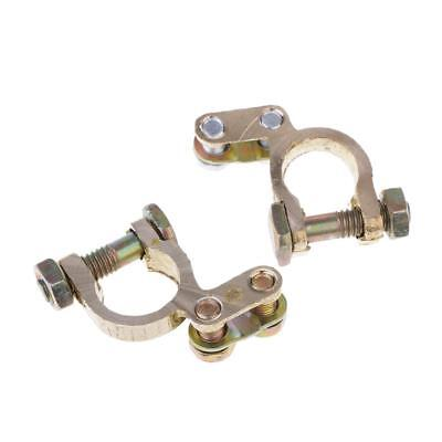 Copper Auto Car Replacement Battery Terminal Clamp Clips Brass Connectors