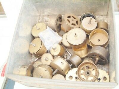 clock makers clock movement Brass Spring Barrels some with springs Huge lot