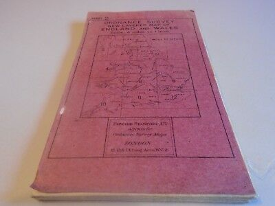Vintage stanford ordnance survey map of Isle Man Westmorland Blackburn 1920s