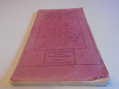 vintage stanfords ordnance survey map Leicester Derby Manchester 1920s